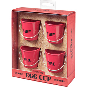 Eddingtons Egg Cup Buckets - Fire (Set of 4)