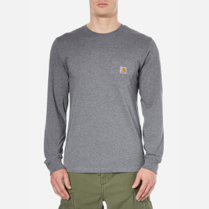 Carhartt Men's Long Sleeve Pocket T-Shirt - Dark Grey