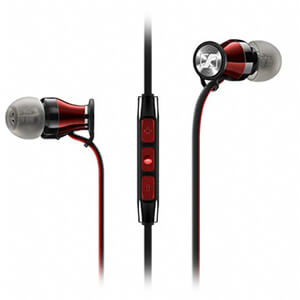 Sennheiser M2IE Momentum Earphones Inc In-Line Mic and Remote - Black Chrome