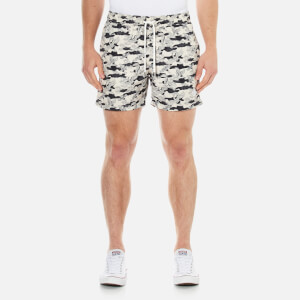 J.Lindeberg Men's Banks Pattern Swim Shorts - Off White