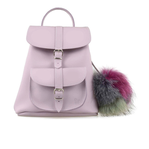 Grafea Women's Valerie Fur Pom Backpack - Lilac