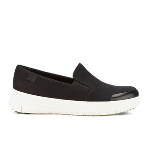FitFlop Women's Sporty Pop Canvas Skate Slip On Trainers - Black - UK 7