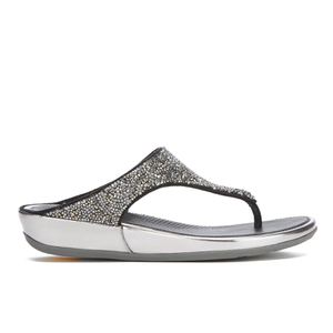 FitFlop Women's Banda Roxy Toe-Post Sandals - Pewter