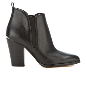 MICHAEL MICHAEL KORS Women's Brandy Leather Heeled Ankle Boots - Black
