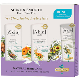 A'kin Shine & Smooth Trio (Worth £36.00)
