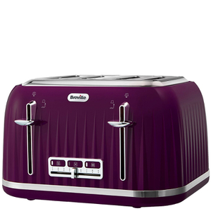 Breville VTT634 Impressions 4 Slice Toaster - Damson