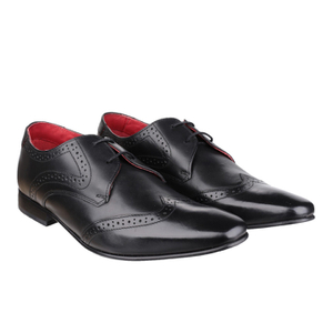 Base London Men's Sew Brogue Shoes - Black