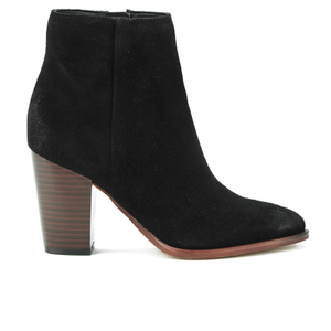 Sam Edelman Women's Blake Suede Heeled Ankle Boots - Black