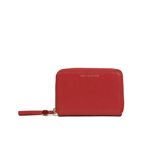 Lulu Guinness Women's Small Zip Around Wallet - Red