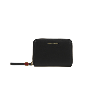 Lulu Guinness Women's Small Zip Around Wallet - Black