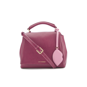 Lulu Guinness Women's Rita Small Shoulder Bag with Lip Charm - Cassis