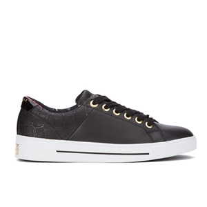 Ted Baker Women's Ophily Leather/Exotic Cupsole Trainers - Black