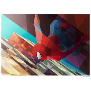 Spiderman Inspired Illustrative Art Print