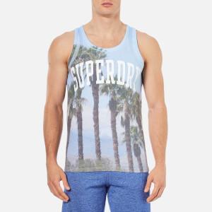 Superdry Men's Santa Monica Photo Print Vest - Sky Blue