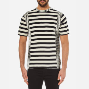 PS by Paul Smith Men's Crew Neck Stripe T-Shirt - Black/White