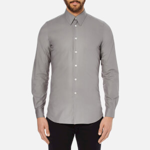PS by Paul Smith Men's Cuff Detail Long Sleeve Shirt - Grey