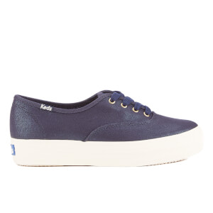 Keds Women's Triple Metallic Canvas Trainers - Peacoat Navy