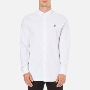 Lyle & Scott Vintage Men's Pique Jersey Shirt - White