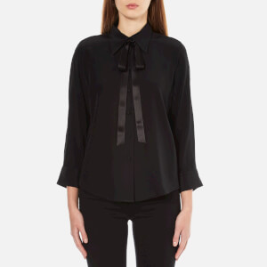Marc Jacobs Women's Button Down Shirt With Tie - Black