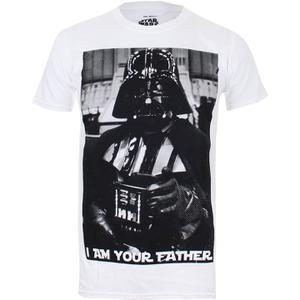 Star Wars Herren Vader Father Photo T-Shirt - Weiss