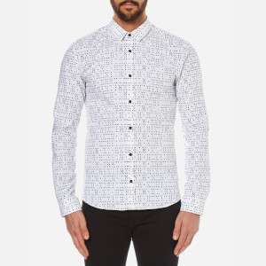 HUGO Men's Ero3 Acemetric Print Shirt - Black