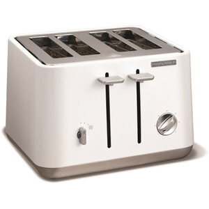 Morphy Richards 240003 Aspect Steel 4 Slice Toaster - White