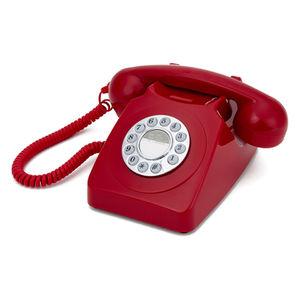 GPO Retro 746 Push Button Telephone - Red