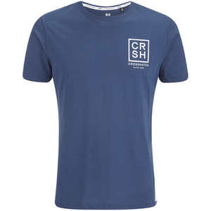 Crosshatch Men's Hicker Graphic T-Shirt - Estate Blue