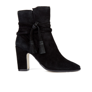 Dune Women's Onyx Suede Heeled Ankle Boots - Black