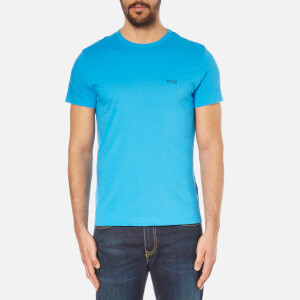 BOSS Green Men's Small Logo T-Shirt - Blue