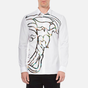 Versace Collection Men's Medusa Print Shirt - White