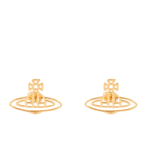 Vivienne Westwood Jewellery Women's Thin Lines Flat Orb Stud Earrings - Gold