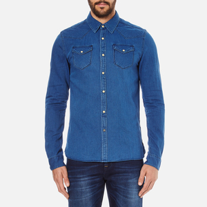 Scotch & Soda Men's Western Denim Shirt - Worker Blue