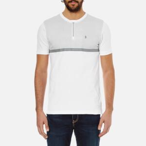 Luke 1977 Men's Clackik Zip Detail Printed T-Shirt - White