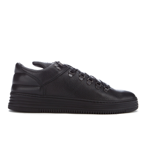 Filling Pieces Men's Mountain Cut Stripe Low Top Trainers - Black