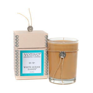 Votivo Aromatic Candle - White Ocean Sands