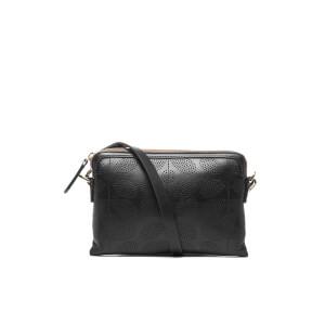 Orla Kiely Women's Sixties Stem Leather Poppy Cross Body Bag - Black