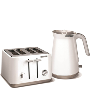Morphy Richards Aspect Steel 4 Slice Toaster and Kettle Bundle - White