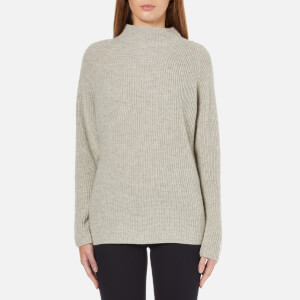 Polo Ralph Lauren Women's Mock Knitted Jumper - Light Vintage Heather