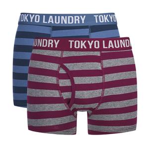 Tokyo Laundry Men's 2-Pack Yass Boxers - Rioja/Vintage Indigo
