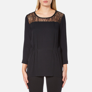 Selected Femme Women's Mussa Lace Top - Black