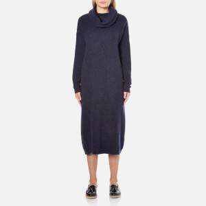 Selected Femme Women's Livana Knitted Roll Neck Dress - Dark Sapphire