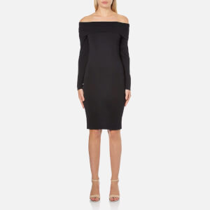 Selected Femme Women's Mathilde Off Shoulder Knitted Dress - Black