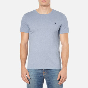 Polo Ralph Lauren Men's Short Sleeve Crew Neck Custom Fit T-Shirt - Ocean Heather
