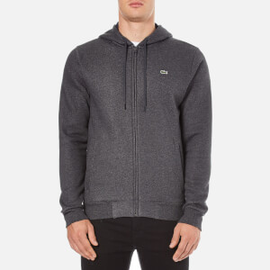 Lacoste Men's Zip Through Hoody - Dark Grey/Jaspe