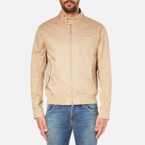 Lacoste Men's Casual Zip Through Jacket - Macaroon/Navy