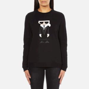 Karl Lagerfeld Women's Kocktail Karl Sweatshirt - Black