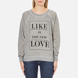 Wildfox Women's Like Button Kims Sweatshirt - Heather Vanilla Latte