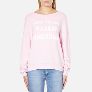 Wildfox Women's Really Awesome Baggy Beach Sweatshirt - Pouty Pink