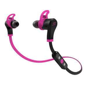 SMS Audio by 50 Cent: Sports Bluetooth Earphones (Water Resistant) - Pink
